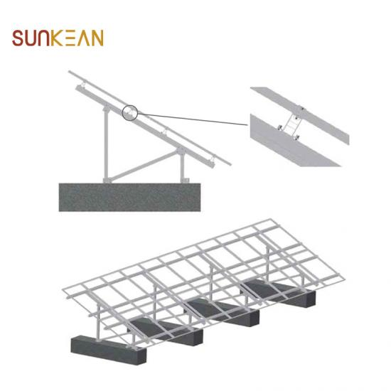 Double-posts solar mounting system